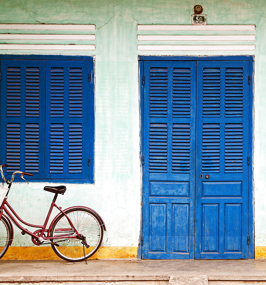 Bike Parked on a Front Porch, Hoi An, Vietnam