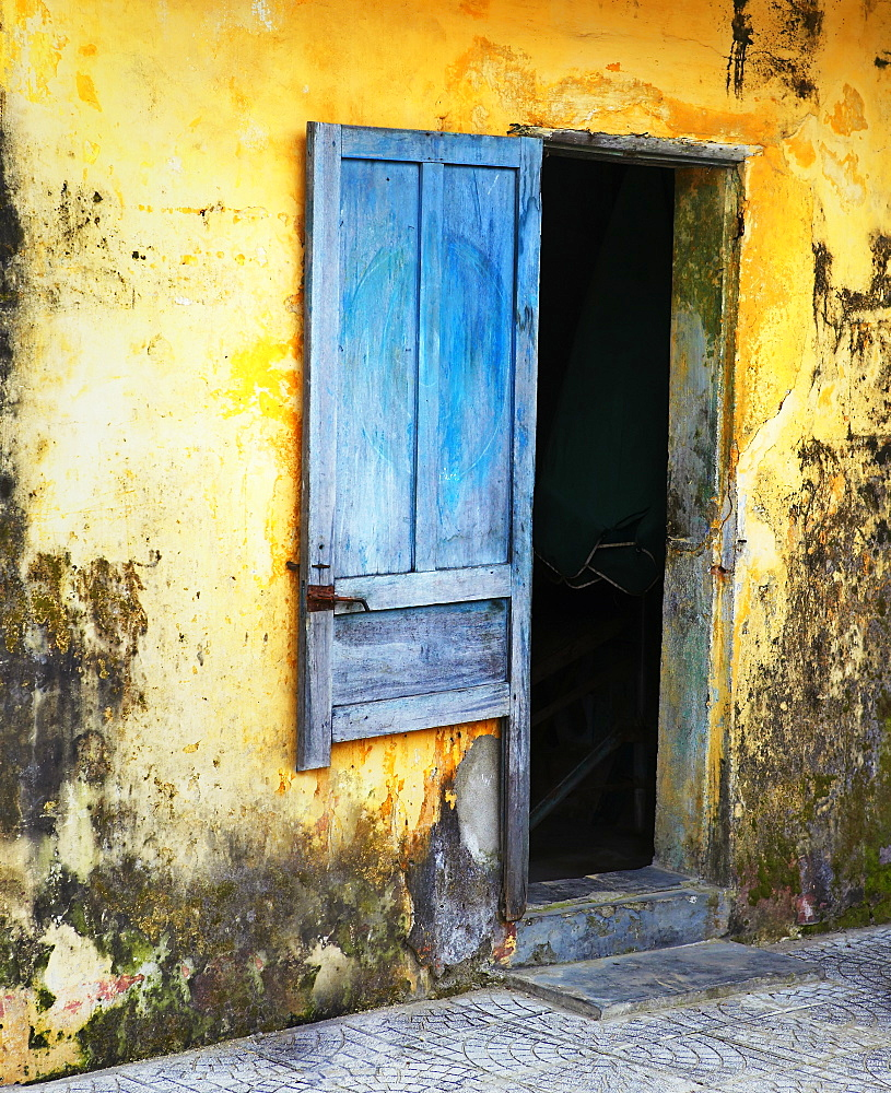 Entrance to a Dilapidated Building, Hoi An, Quang Nam, Vietnam