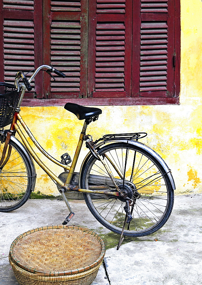 Bicycle Outside an Old Home, Hoi An, Quang Nam, Vietnam