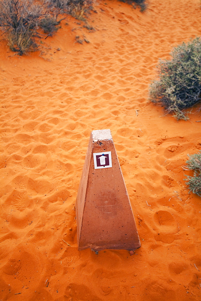 Stone marker in Valley of Fire State Park, Nevada, United States, None, Nevada, USA