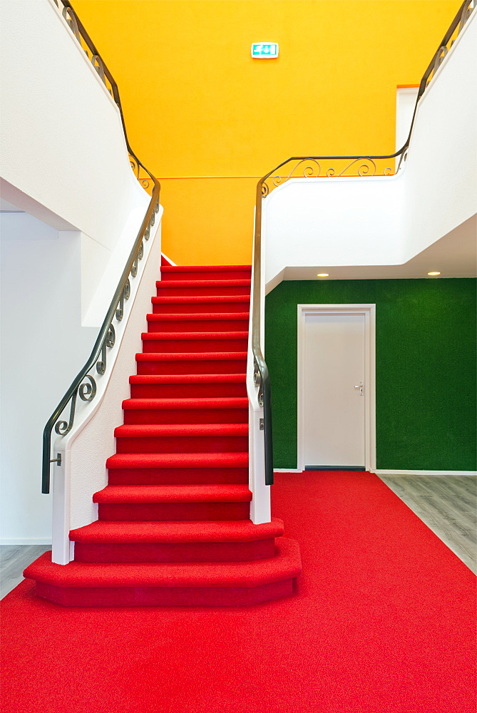 Colorful staircase, Rijswijk, Netherlands, Netherlands