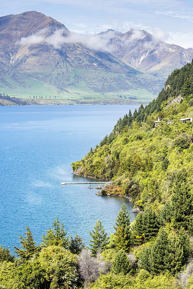 Aerial view of Lake Wanaka, New Zealand, Wanaka, Lake Wanaka, New Zealand