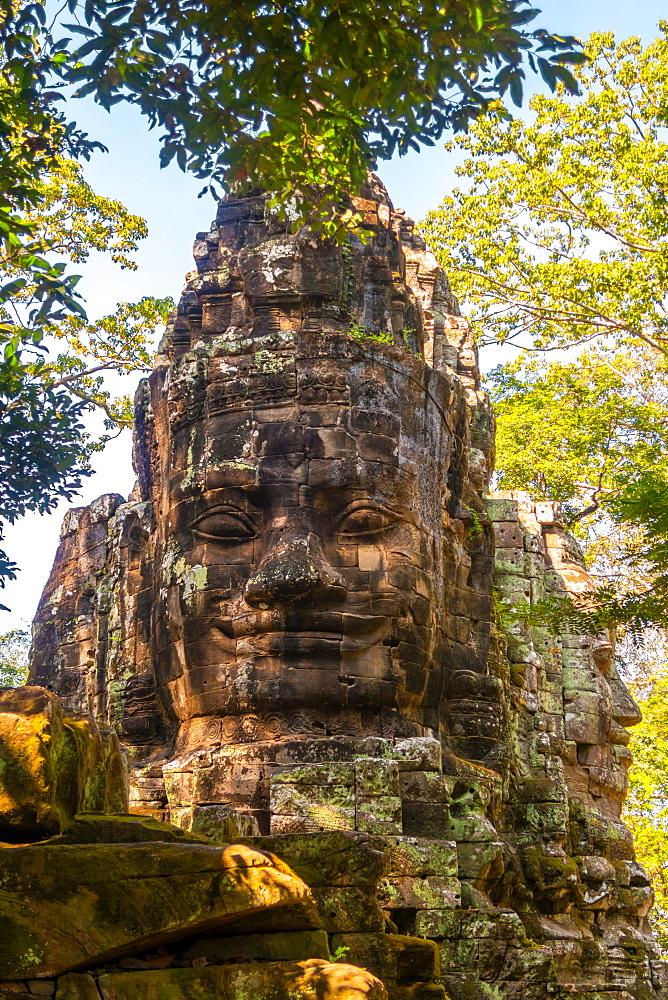 Statues at the entrance to Angkor Thom Cambodia, Cambodia