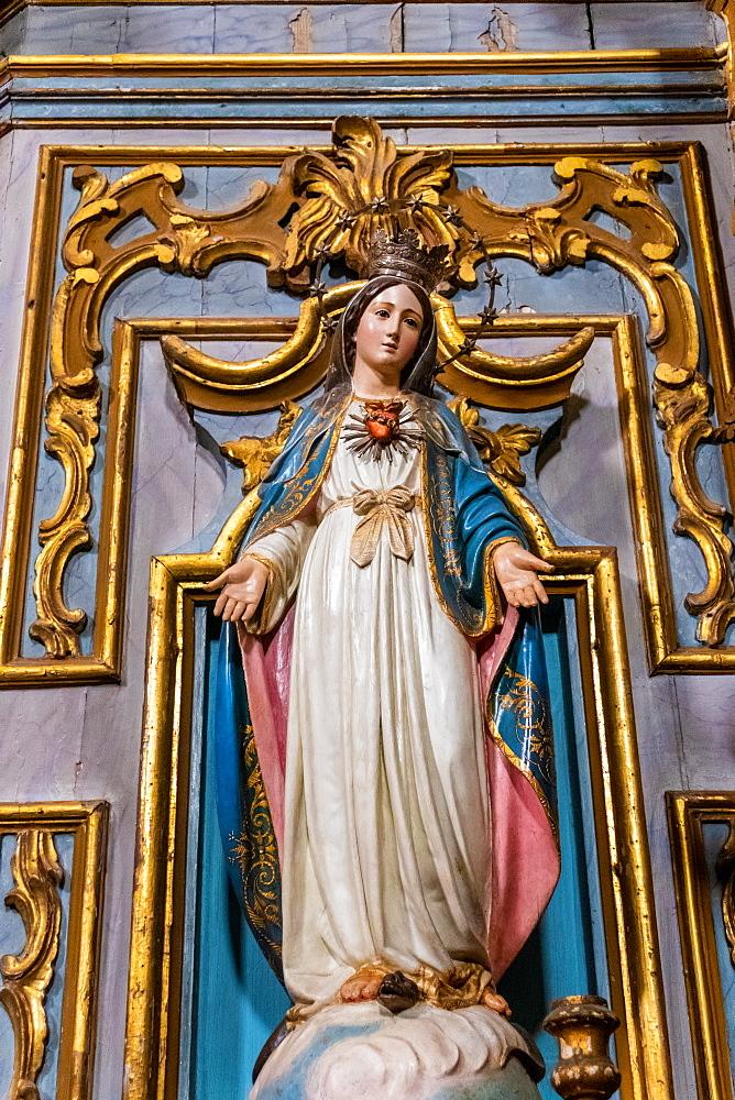 Statue of Virgin Mary in church of Igreja de Santiago, Tavira, Algarve, Portugal,