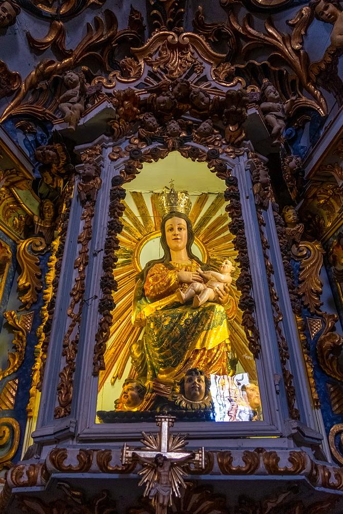 Statue in church of Igreja de Santiago, Tavira, Algarve, Portugal,