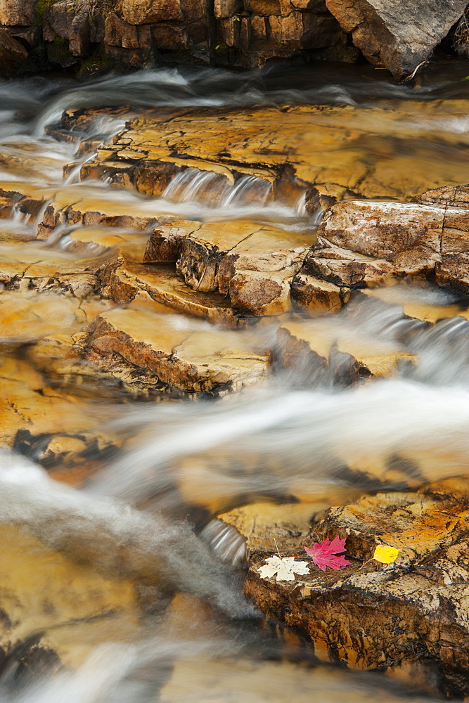 Water flowing over rocks on the Provo River in the Uinta mountains, Provo River, Uinta Mountains, Utah, USA