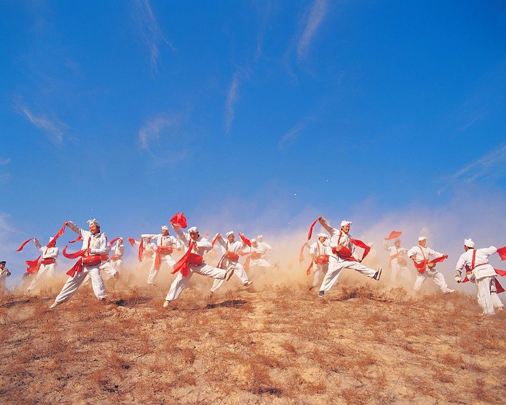 Waist drum dance in Ansai style, Shaanxi - 731-1108