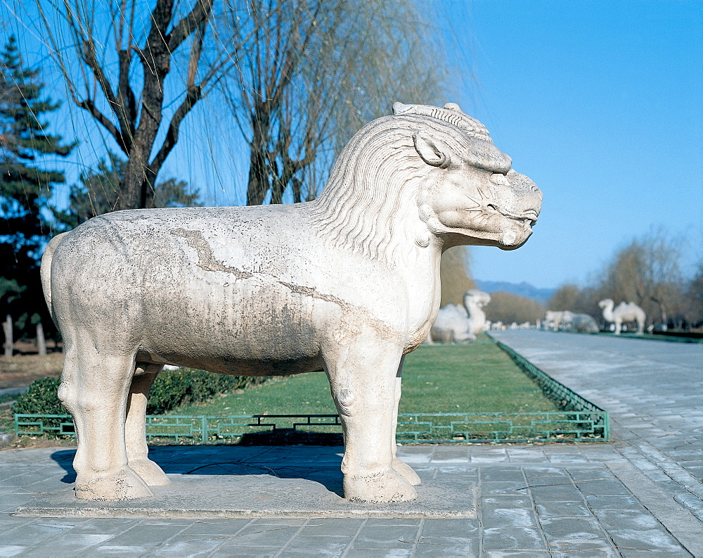 Sculpture along the Sacred Way in Ming Tombs, Beijing