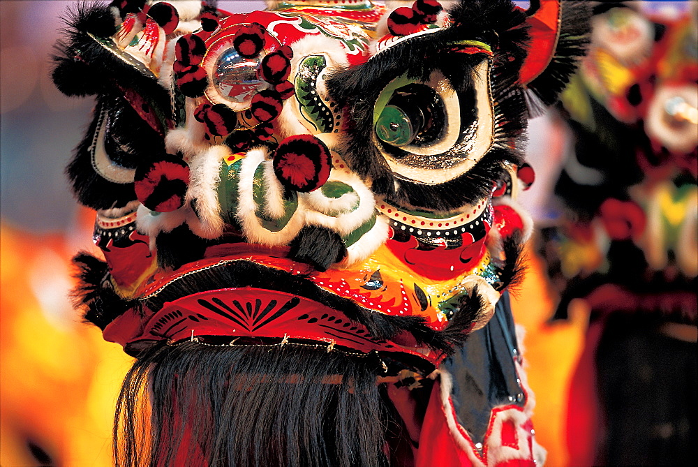 A lion head design for Chinese lion Dance
