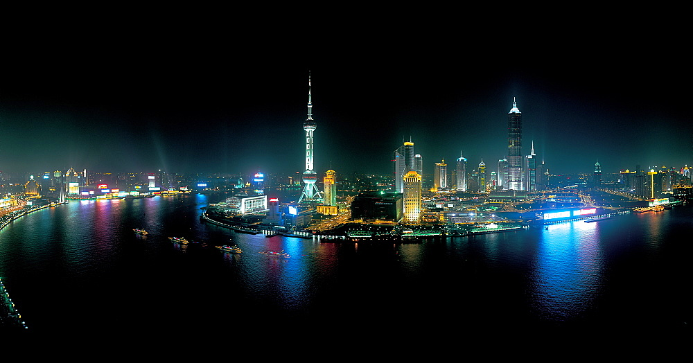 Panoramic view of Pudong, Shanghai - 731-652