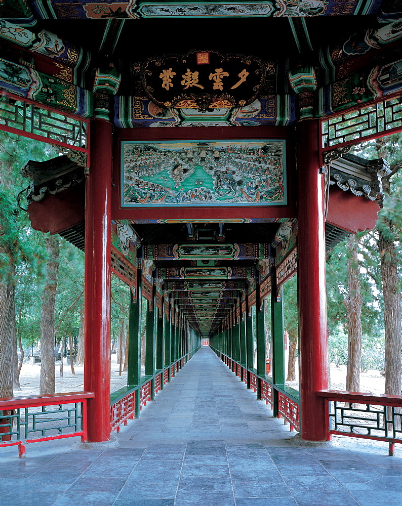 The Long Corridor in Summer Palace, Beijing - 731-88