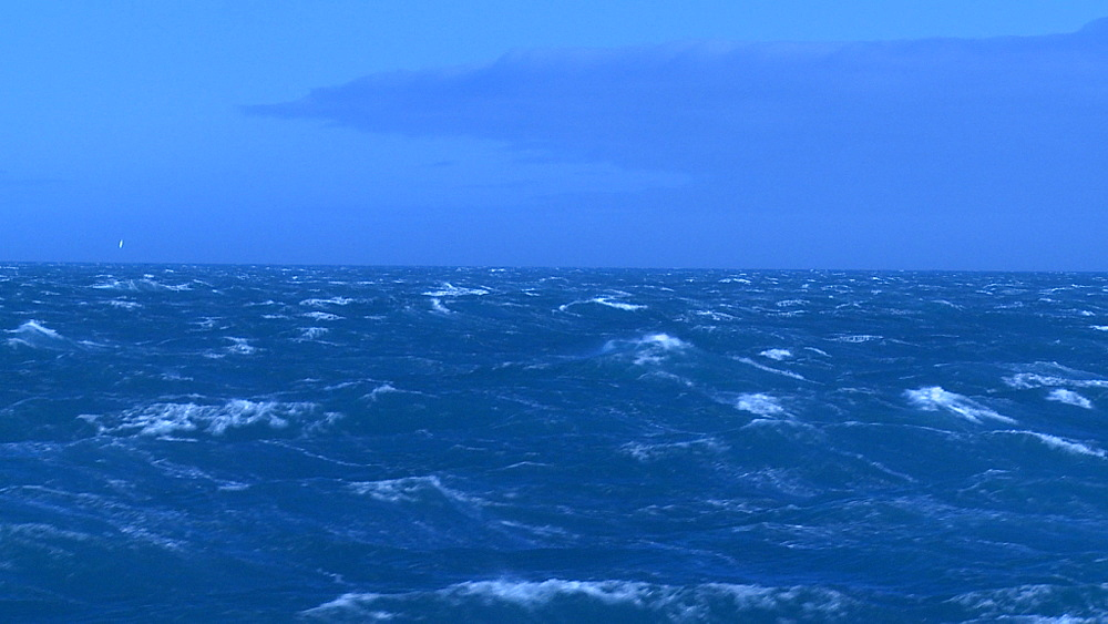 Scenic South Atlantic waves from ship. South Atlantic