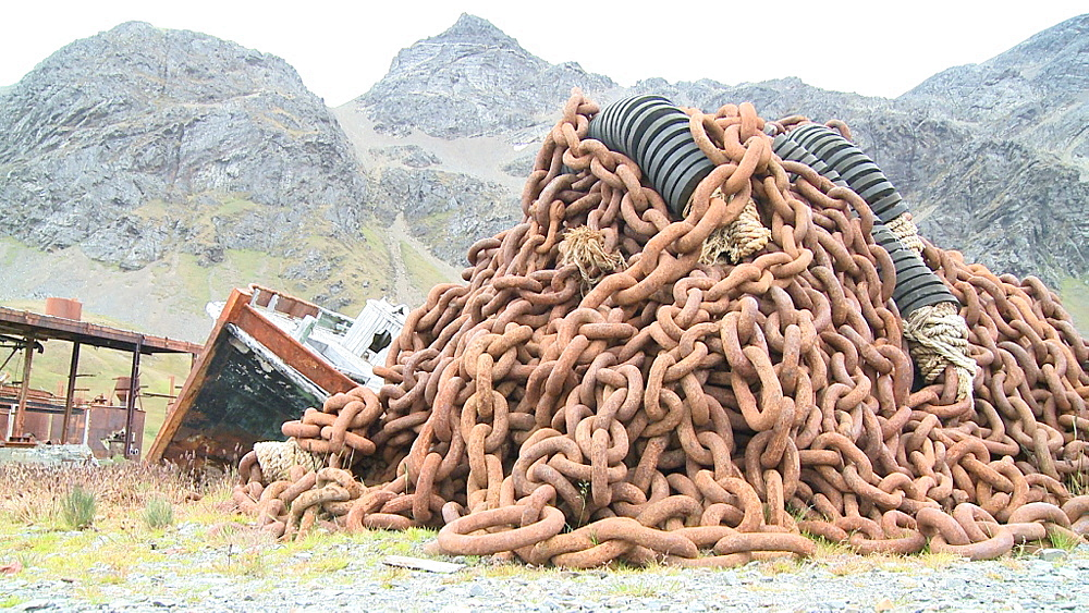 Rusting chains. Grytviken Whaling Station. South Georgia Island - 1034-1029