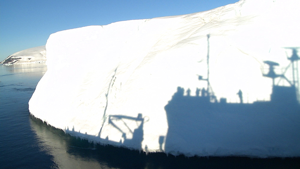 Shadow of ship on iceberg. Southern Atlantic. Antarctica - 1034-1044