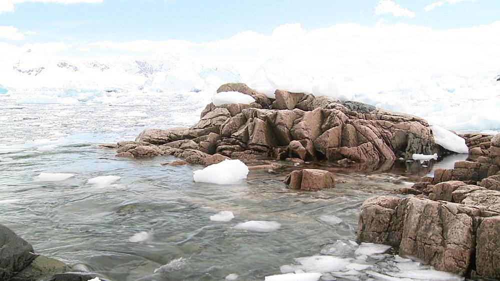 Brash ice and icebergs.  Neko Harbour, Antarctica