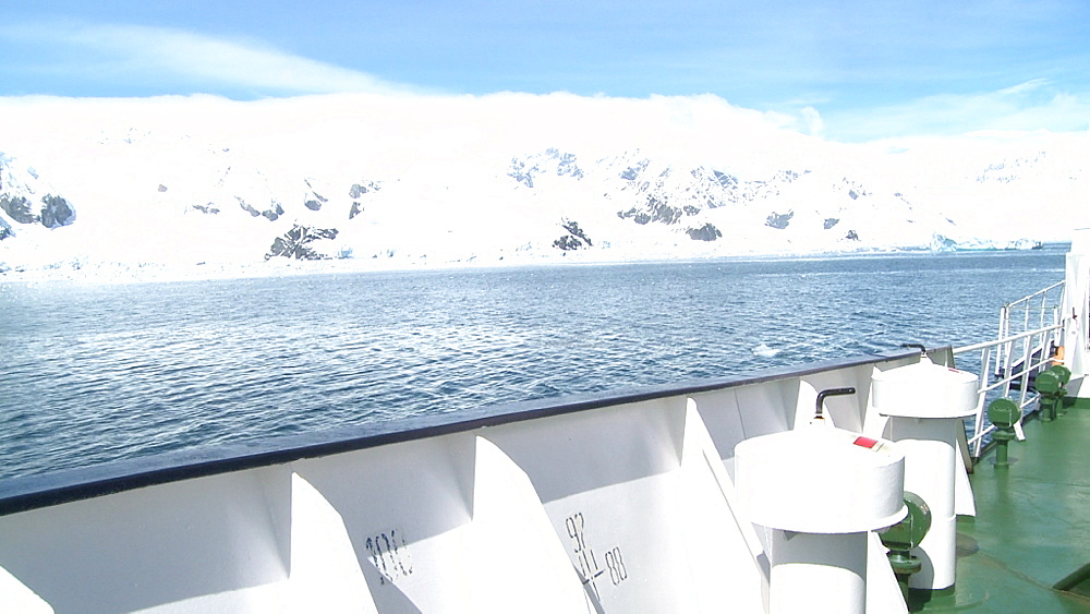 Antarctic coastline seen from boat. Paradise Bay - 1034-911
