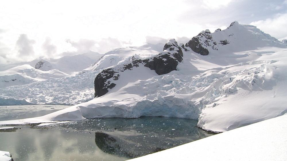 Antarctic glacier scenic. Almirante Brown. Paradise Bay