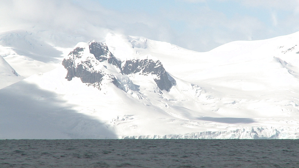 Mikkelson Harbour scenic snow covered mountains. Mikkelson Harbour, Antarctic peninsula
