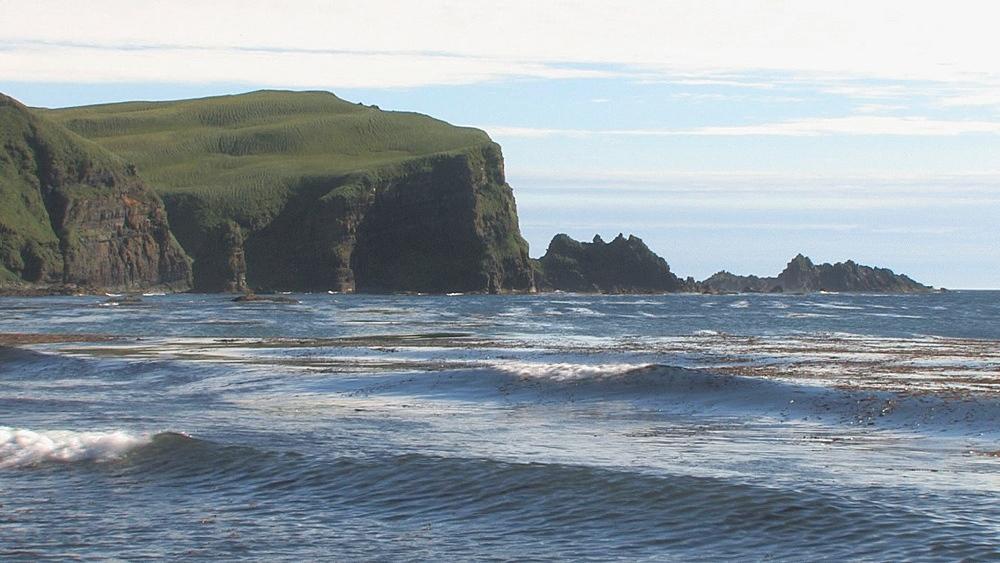 Aleutian coastline with cliffs. Aleutian Islands. Alaska - 959-23