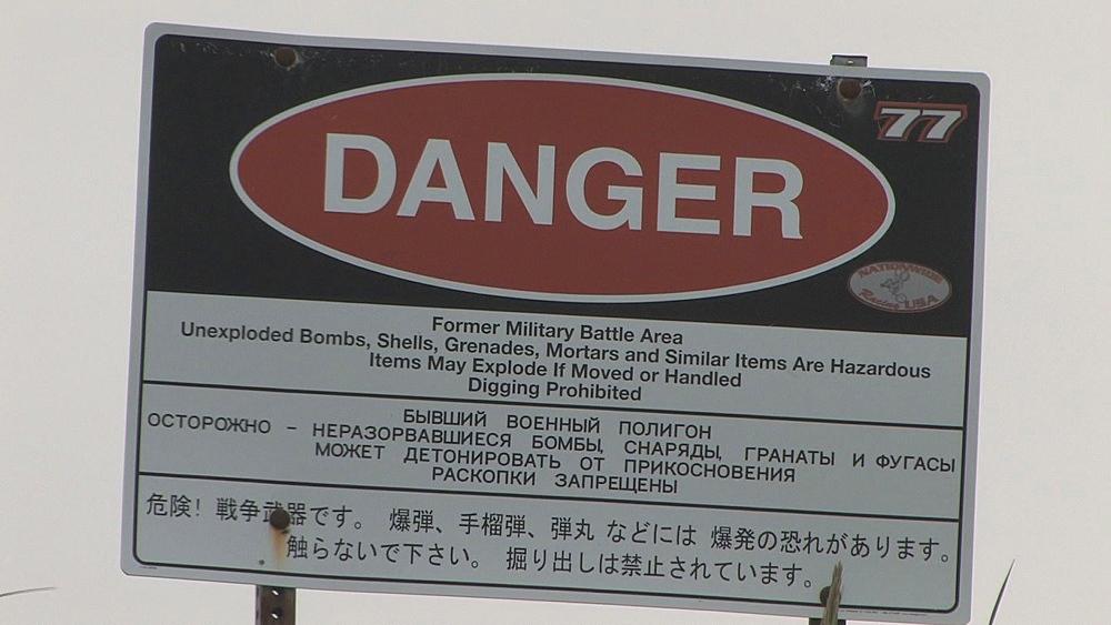 Danger sign. Aleutian Islands. Alaska - 959-34