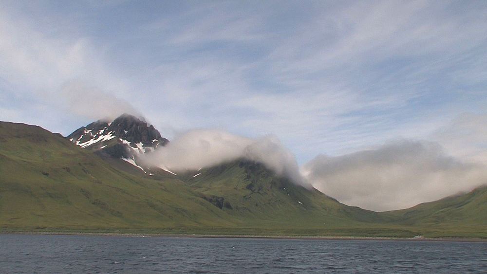 Mountains and coast scenic from boat. Aleutian Islands. Alaska - 959-36
