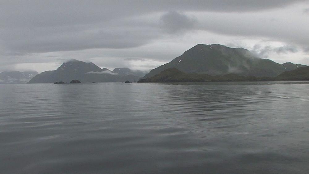 Aleutian Island scenic from boat. Aleutian Islands. Alaska - 959-40