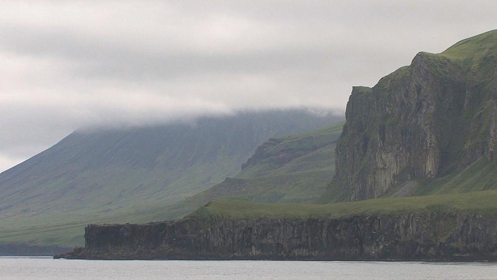 Coastal cliffs with low cloud. Northern Pacific, Aleutian Islands. Alaska - 959-46