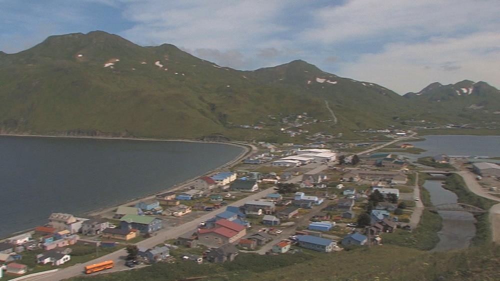 Unalaska and Dutch Harbour. Northern Pacific, Aleutian Islands. Alaska - 959-48