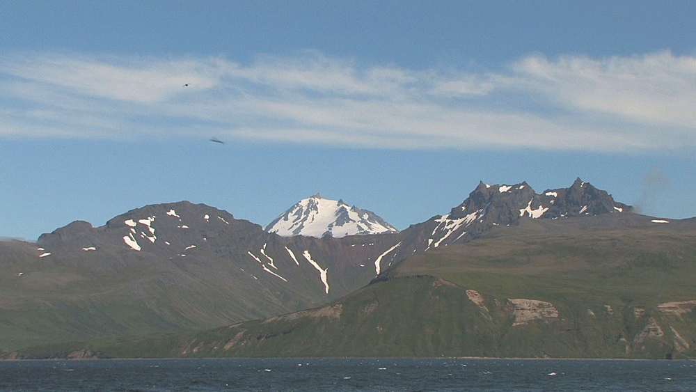 Coastal mountains, from boat. Northern Pacific, Aleutian Islands. Alaska - 959-64