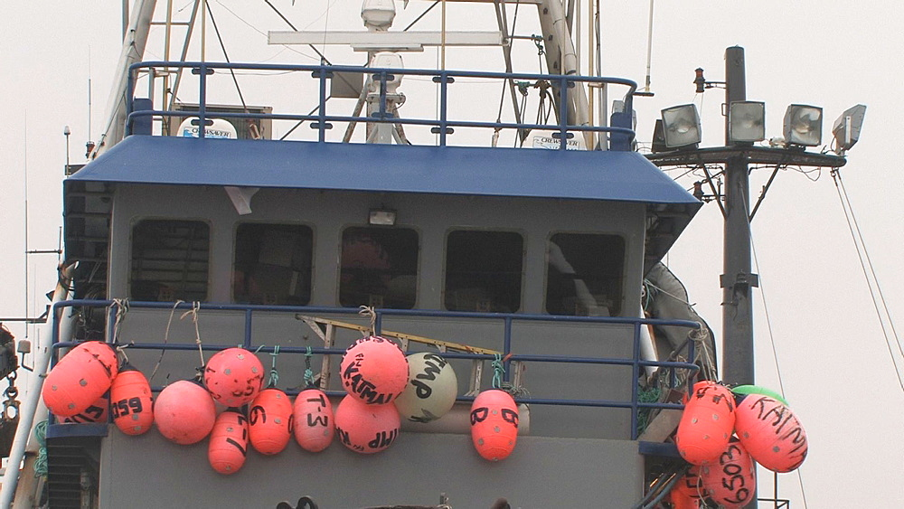 Fishing boat tied up in harbour. Northern Pacific, Aleutian Islands. Alaska - 959-73