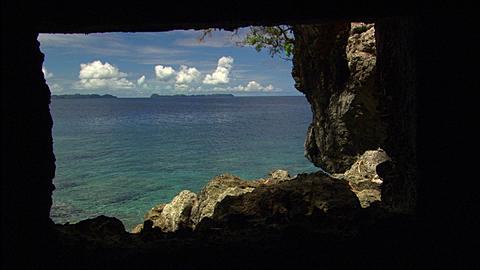 Coastline, WW2 Outpost point of view, Palau, South Pacific