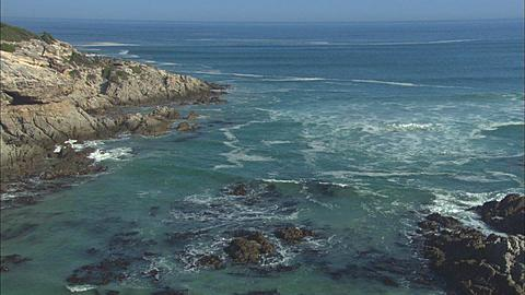 Sunrise, Coastline, waves and beach, Walkers Bay, South Africa,