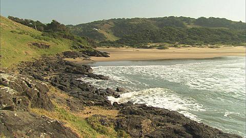 Coastline, rocky bay, South Africa