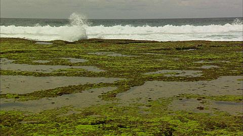 Coastline, wave break widepools, Mozambique