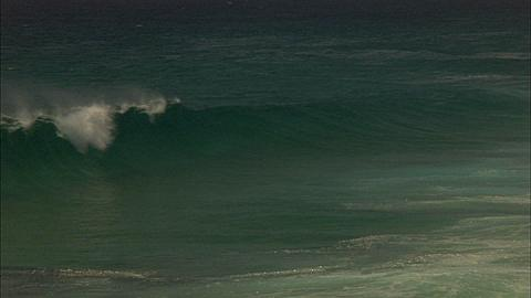 Coastline, Waves, Pan with breaking Coastline, Waves, Mozambique
