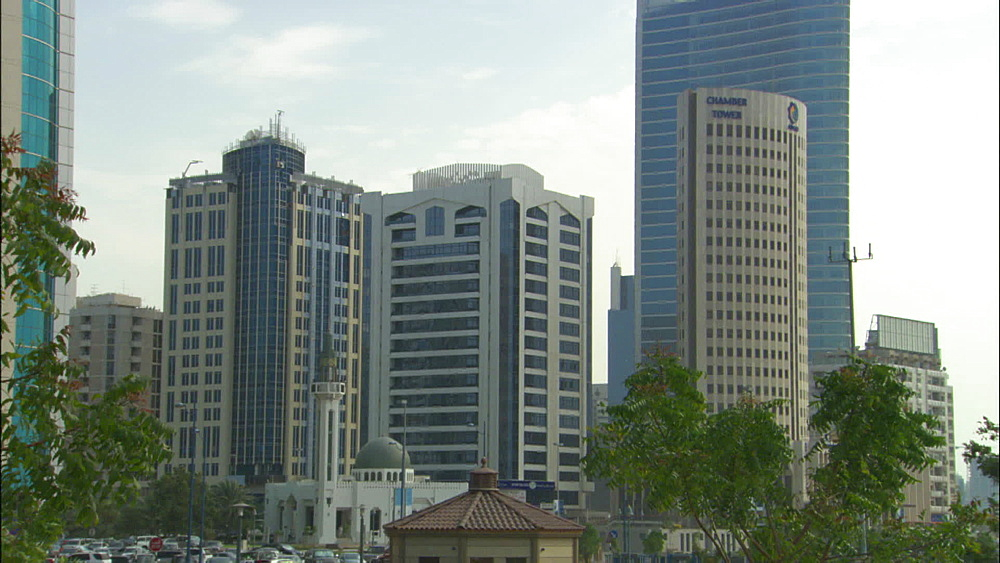Buildings, downtown, Abu Dhabi, United Arab Emirates, Middle East