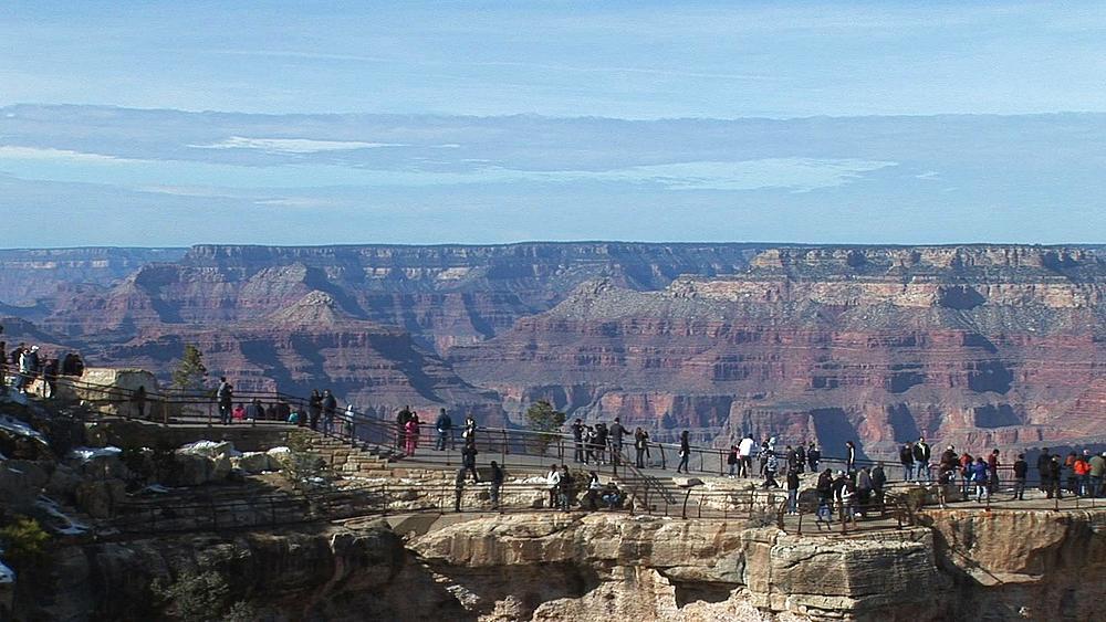 Tourists at Mather Point, Grand Canyon, Arizona, United States of America