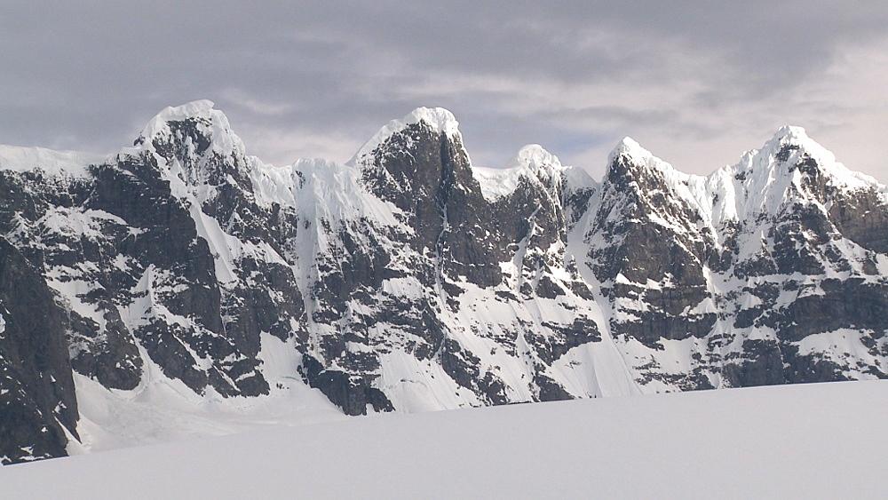 Scenic mountain ridge. Cuverville Island, Antarctic Peninsula