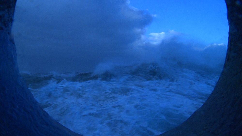 View through porthole. South Atlantic
