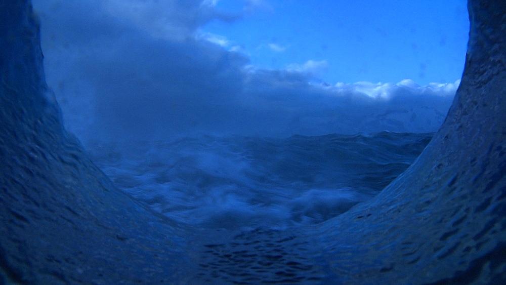 Southern Ocean seen through porthole. South Atlantic