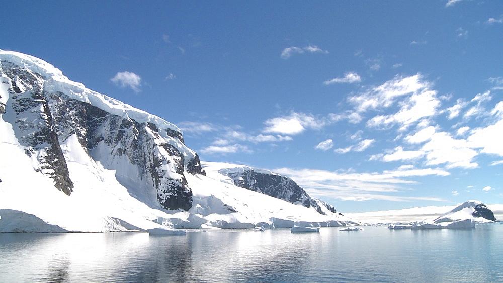 Antarctic scenic cliffs. Errera Channel. Antarctic Peninsula