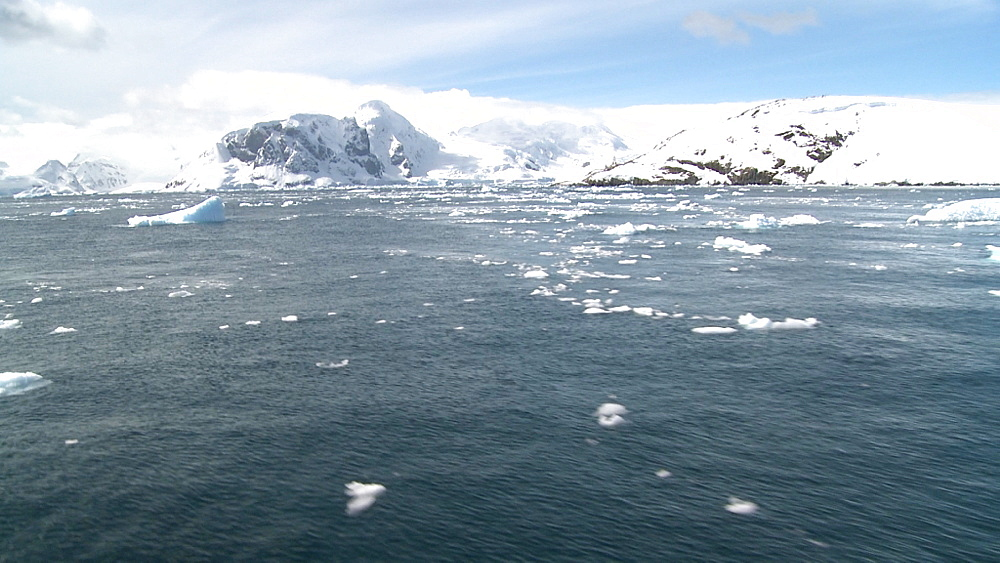Antarctic scenic track from ship. Antarctic peninsula