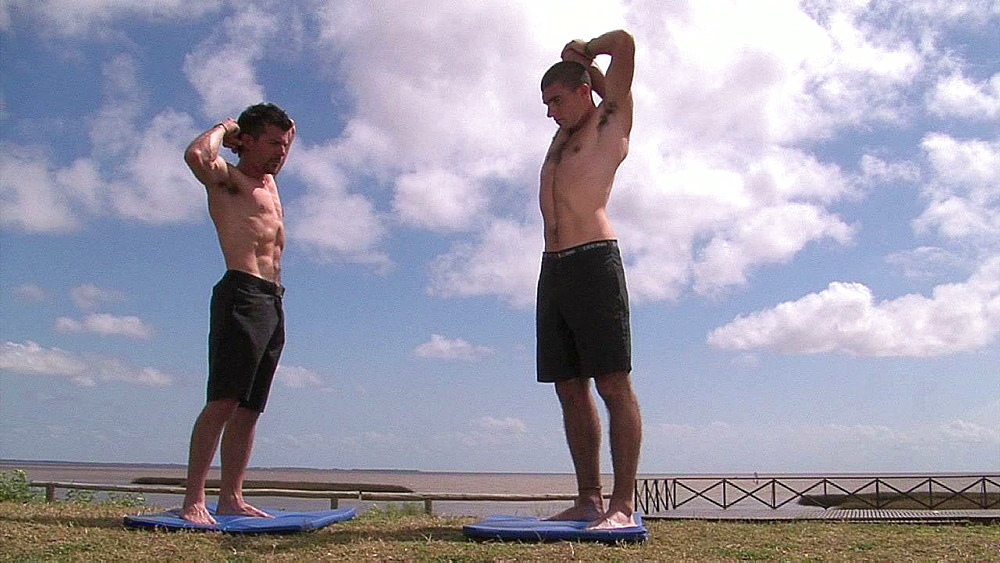 Two men stretching - 1114-1337
