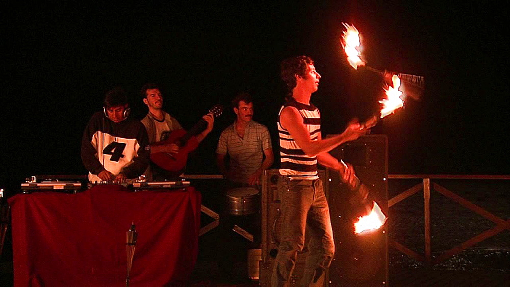 Fire juggler performing for party - 1114-1636