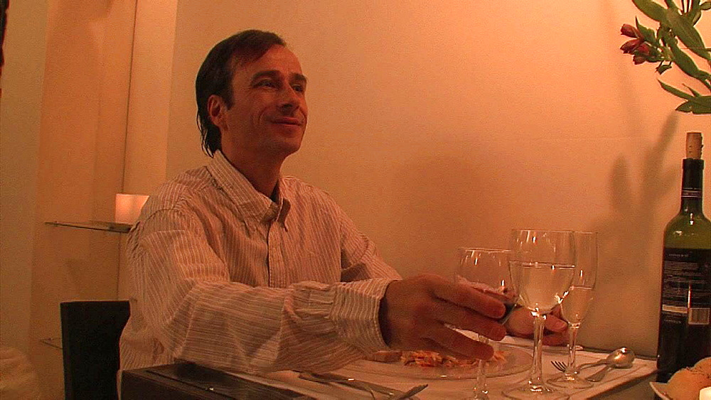 Man drinking wine at dinner - 1114-2098
