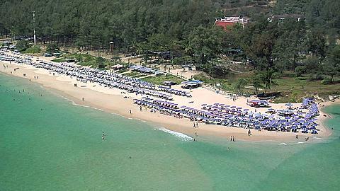 Elevated View of Nai Harn Beach