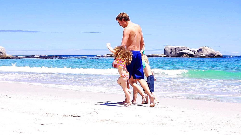 Smiling family walking together, Cape Town, South Africa - 1120-113