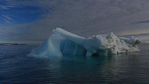Boat track around intricate iceberg, Antarctica - 1159-1138