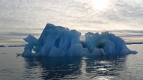 Boat track around intricate iceberg, Antarctica - 1159-1139