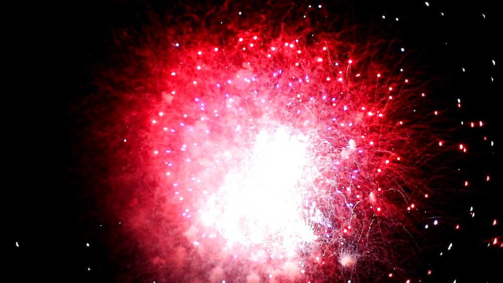Fireworks at Edogawa fireworks festival, Tokyo, Japan - 1172-1185